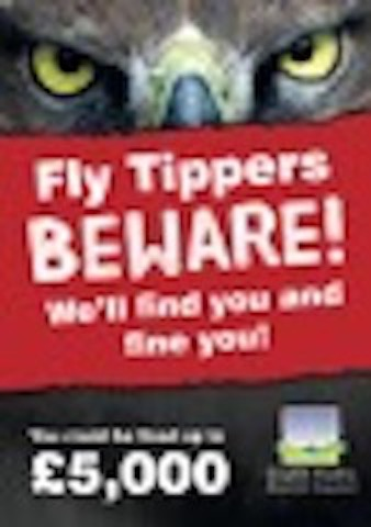 Shaugh Prior Parish Council Owl Fly Tipping Poster