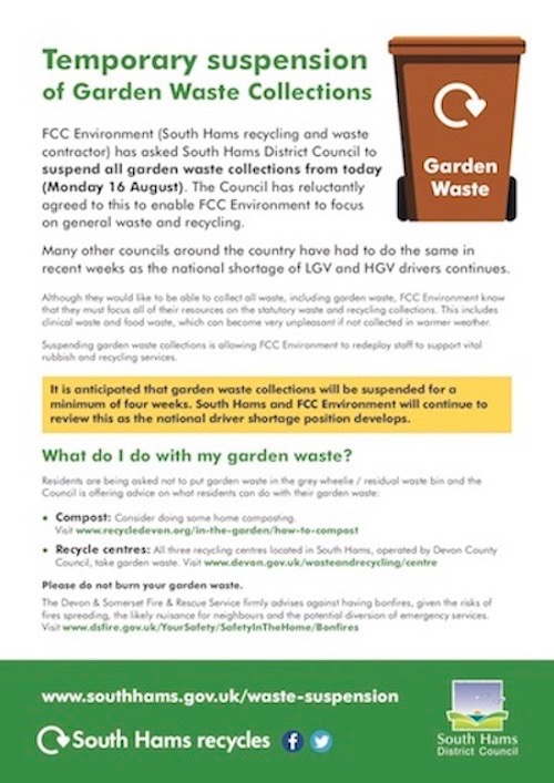 SHDC Garden Waste Collection Suspension