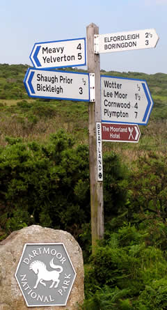 Road Sign in the Parish of Shaugh Prior